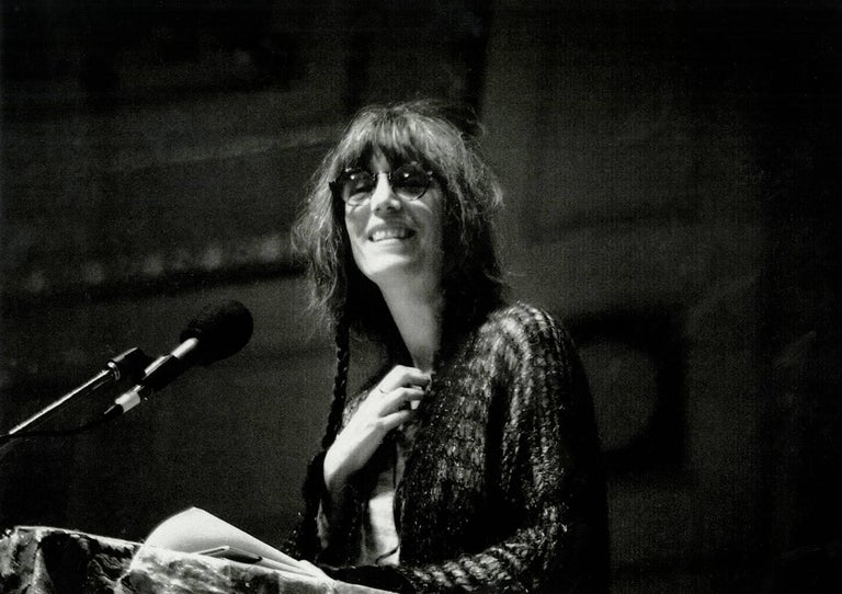 An intimate & charming photo of rock goddess Patti Smith by legendary Detroit photographer Leni Sinclair - Kresge Foundation's Eminent Artist of 2016 (See The Guardian UK Photo Section, Jan. 28, 2016)   Archival Inkjet Print  11x14 inches Hand