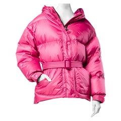 Lenki Lenki Pink Michelin Quilted-down jacket S