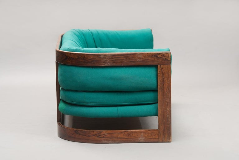 Swedish Lennart Bender rosewood Two-Seat Sofa and Armchair by Stjernmöbler, Sweden 1960s For Sale