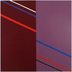 Lennart Kärrabo, Sweden, Oil on Canvas, Abstract Composition, 1982