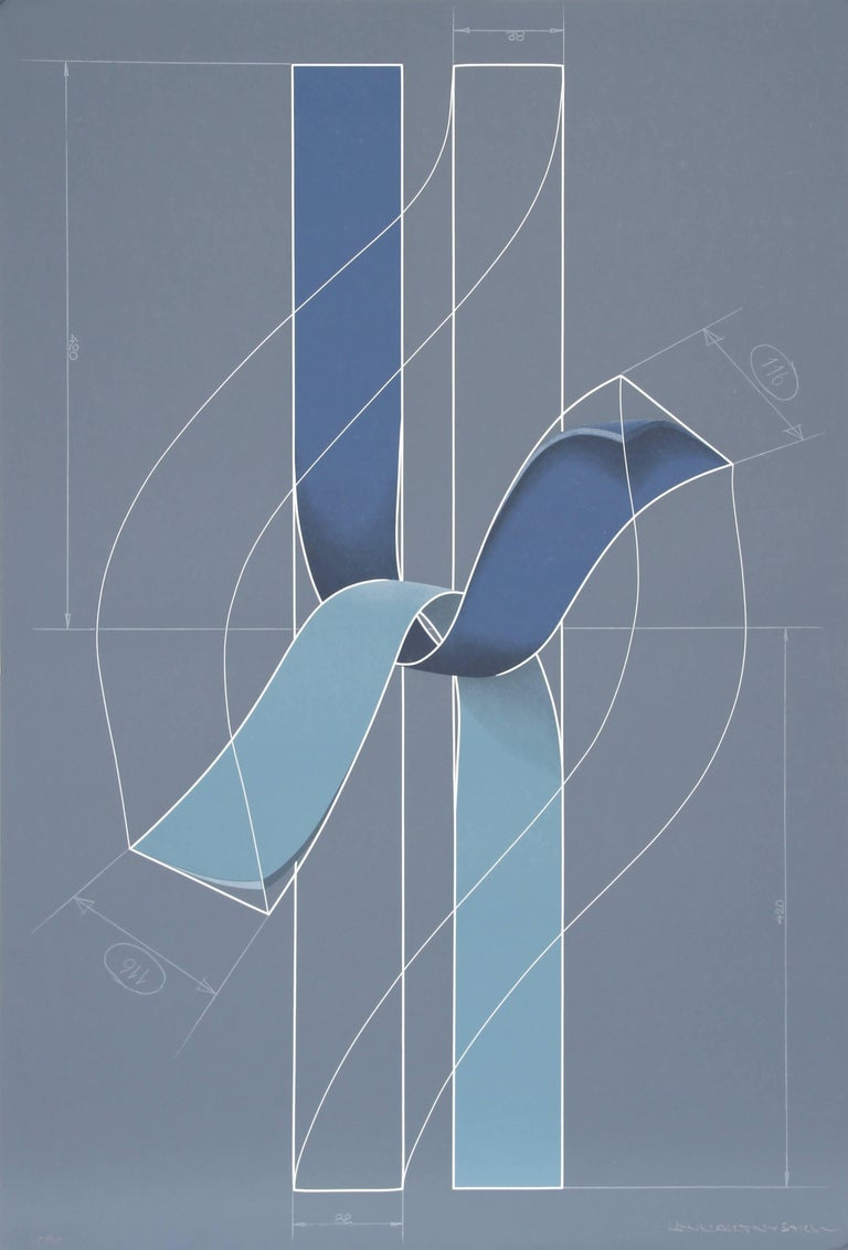 Ribbons, Serigraph by Lennart Nystrom