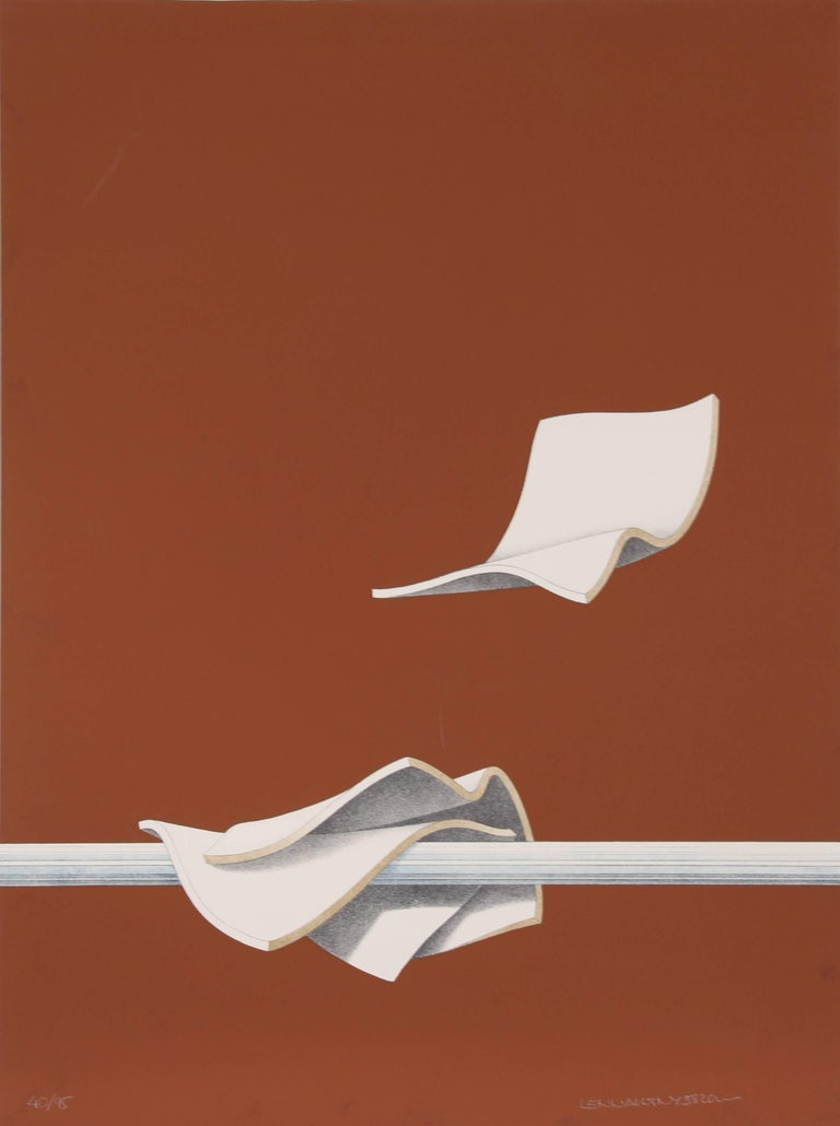 Three Sheets (Brown), Serigraph by Lennart Nystrom