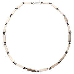 Lennart Oehmke Sterling Silver Block Link Necklace