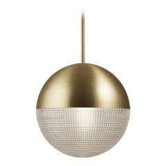 Lens Flair Pendant Light Brushed Brass