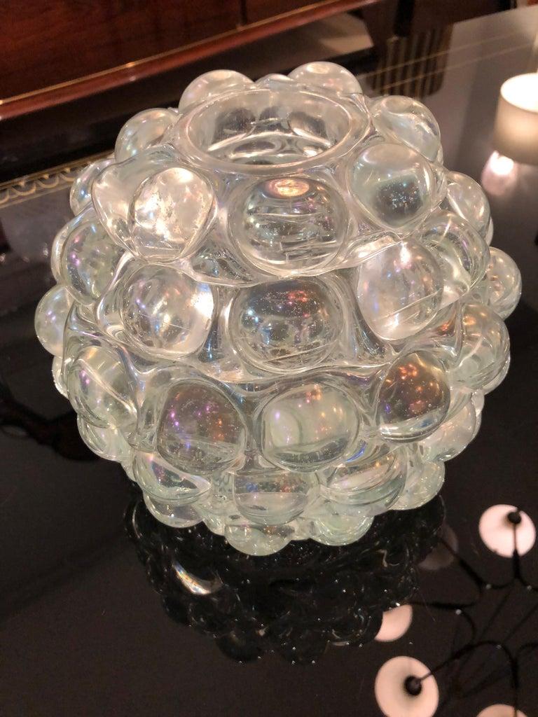 Modern 'Lenti' Italian Art Glass Vase by Ercole Barovier For Sale