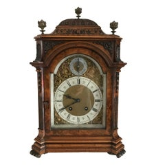 Lenzkirch Burr Walnut Bracket Clock, circa 1880
