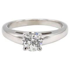 Leo 0.99 Carat Round Diamond F SI2 White Gold Engagement Ring