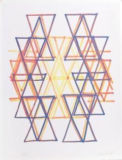 Gradation IV, Abstract Silkscreen by Leo Bates