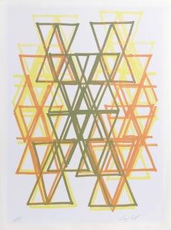 Gradation I, Abstract Silkscreen by Leo Bates