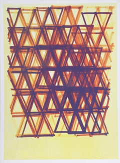 Rhythm Series IV, Abstract Silkscreen by Leo Bates
