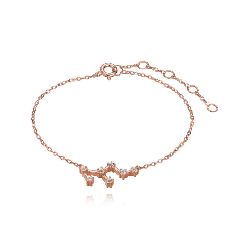 You are unique and your zodiac tells part of your story.  How your zodiac is displayed in the beautiful nighttime sky is what we want you to carry with you always. This leo constellation bracelet shares a part of your personality with us all  .925