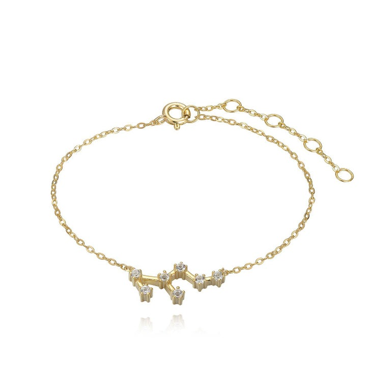 Trillion Cut Leo Constellation Bracelet For Sale