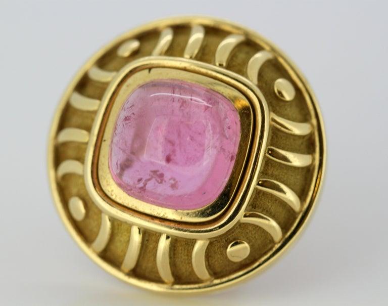 Women's Leo De Vroomen Earrings, Gold and Natural Amethyst For Sale