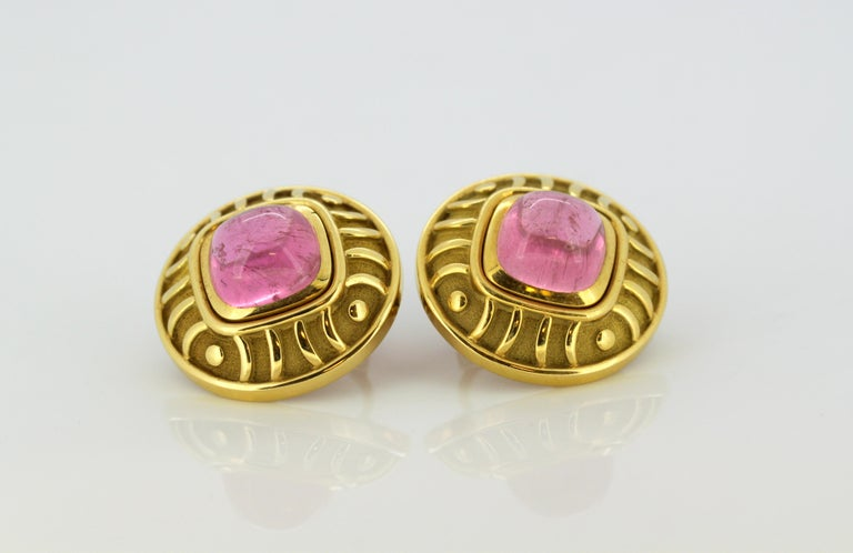 Leo De Vroomen Earrings, Gold and Natural Amethyst For Sale 2