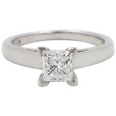 Leo Diamond Princess Cut 1.01 CT D VS1 Solitaire Engagement Ring 14K White Gold