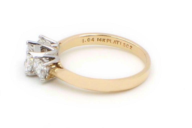 a285b2671da15 Leo Diamond Three-Stone Princess Cut 1.04 Carat G-H SI1-SI2 Ring 14 Karat  Gold