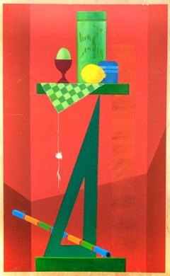 Diavoletto di Cartesio - Original Oil Paint by Leo Guida - 1992