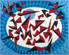 Flight - Original Acrylic Paint by Leo Guida - 1997