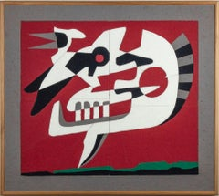 Recall - Original Color Cloth on Plywood by Leo Guida - 1997