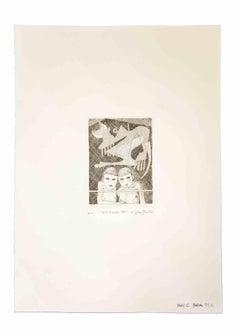 At the Window - Original Print by Leo Guida - 1989