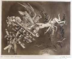 Collapse - Original Etching by Leo Guida - 1975