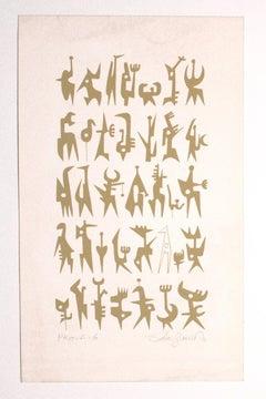 Composition - Original Lithograph by Leo Guida - 1970s