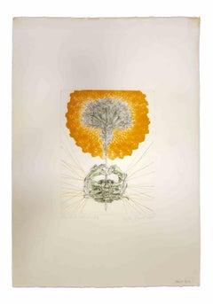 Composition  - Original Print by Leo Guida - 1970's