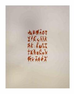 Composition  - Original Print by Leo Guida - 1970s