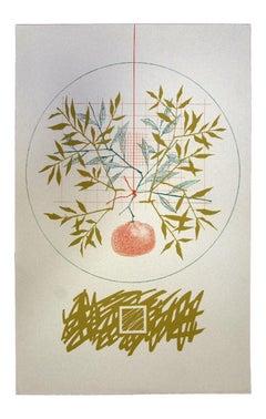 Composition - Original Screen Print by Leo Guida - 1976