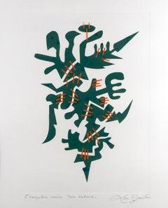 Con Suture - Original Lithograph on Paper by Leo Guida - 1985