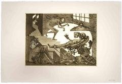 Gli Anni del Dolore (The Years of Pain) - Original Etching by Leo Guida - 1975