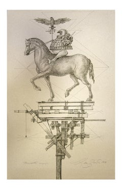 Horse - Original Etching on Paper by Leo Guida - 1976