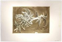 Il Crollo (The Fall) - Original Etching by Leo Guida - 1975