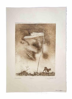 Lonely Flag - Original Print by Leo Guida - 1972