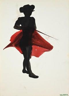 Matador - Original Monotype Lithograph - Late 20th century