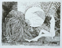 Meeting with the Sybil - Original Etching by Leo Guida - 1970
