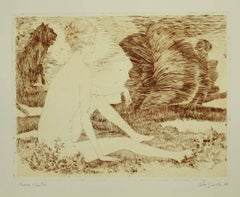 Nude - Original Etching on Paper by Leo Guida - 1970s