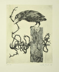Predatory - Original Etching by Leo Guida - 1972