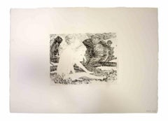 Reclined Nude - Original Print by Leo Guida - 1970's