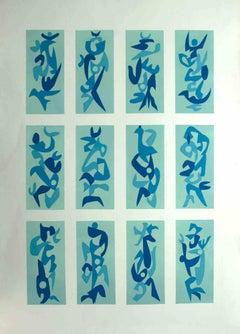 Shapes - Original Lithograph by Leo Guida - 1970s