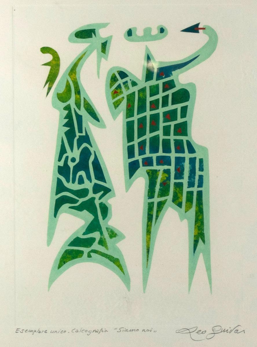 Siamo noi - Original Monotype by Leo Guida - 1993