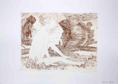 Sibil - Original Etching by Leo Guida - 1970s