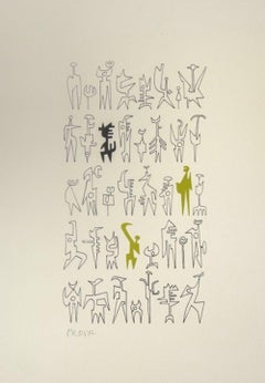 Signs - Original Lithograph by Leo Guida - 1970s