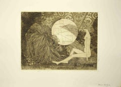 Sybil in Conversation - Original Etching by Leo Guida - 1970s
