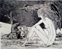 Sybil - Original Etching by Leo Guida - 1970