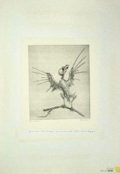 The Bird - Original Etching by Leo Guida - 1972