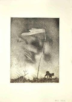 The Boundary - Original Etching by Leo Guida - 1970s
