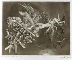 The Collapse - Original Etching by Leo Guida - 1975