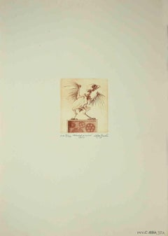 The Cuckoo Clock - Original Etching by Leo Guida - 1971