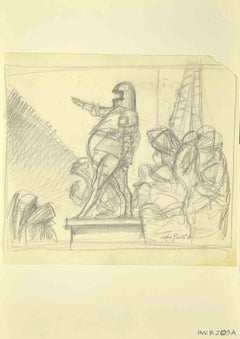 The Declaration - Original Drawing by Leo Guida - 1970s
